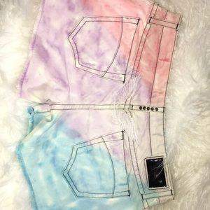 Robin's jean Tie Dye Boyfriend Shorts